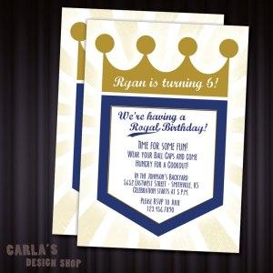 Royals Birthday Invite