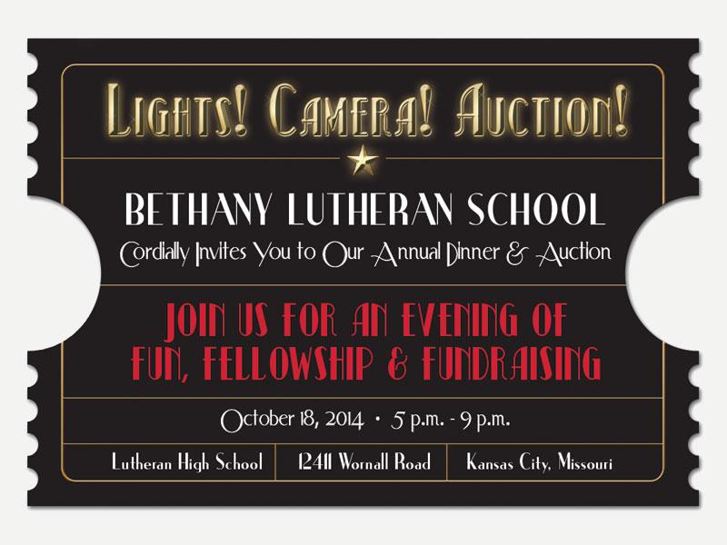 Lights Camera Auction Invite
